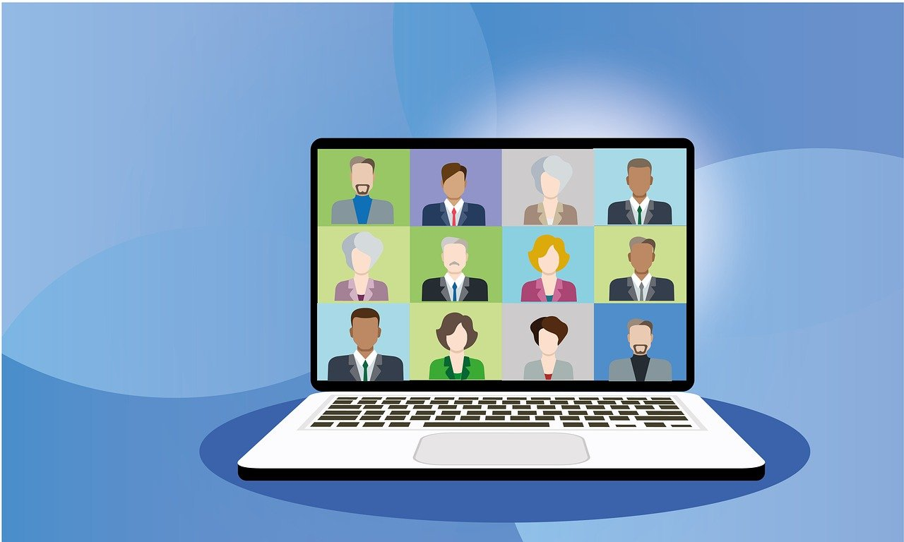 video conference, zoom, meeting